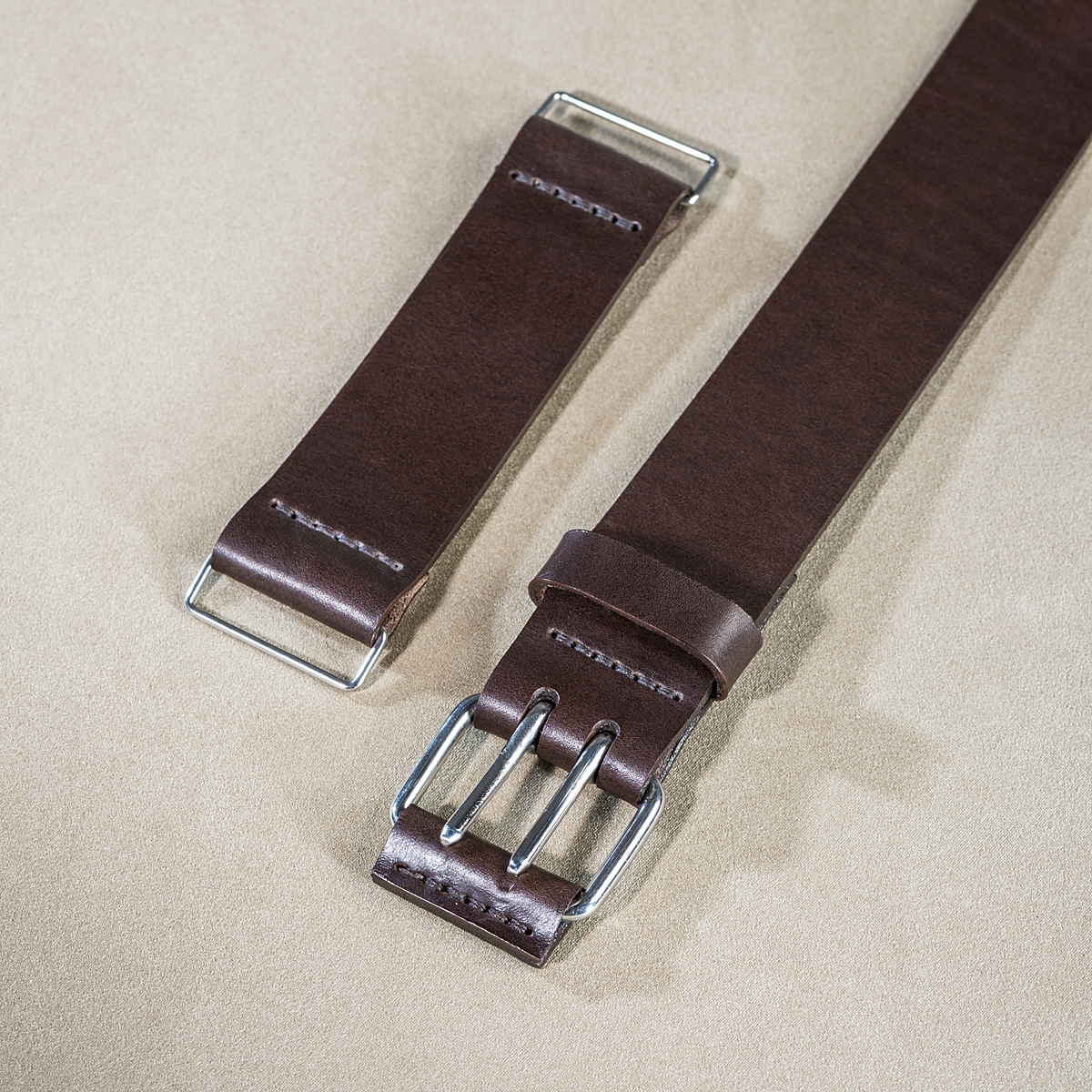 Leather U-lock holder Brown 2.