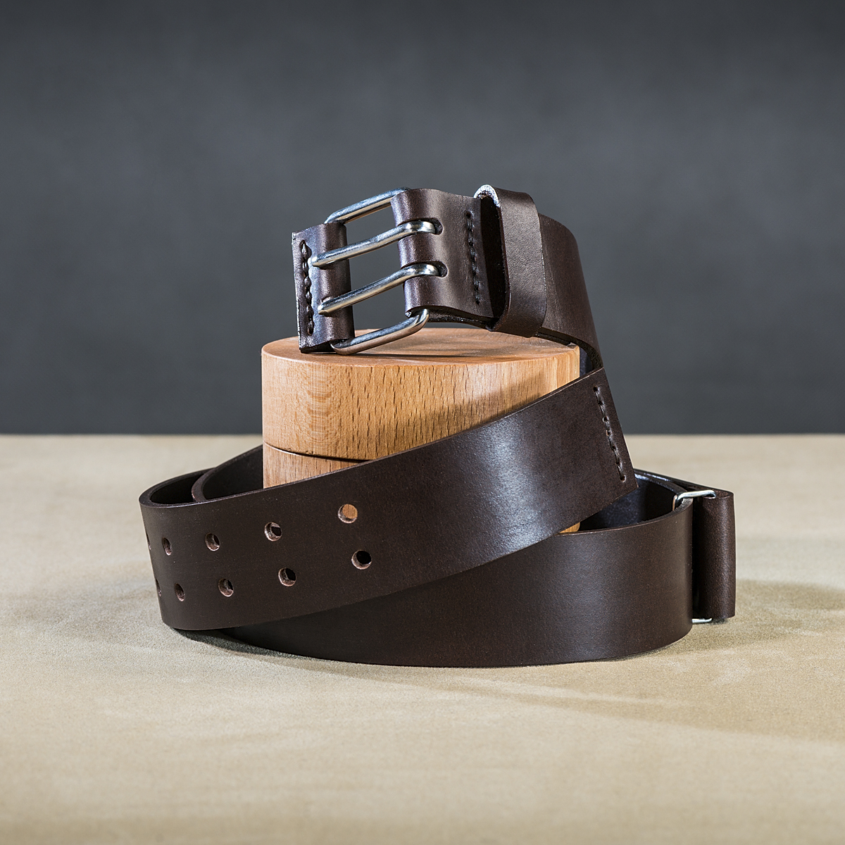 Leather belt for guys Brown 1.