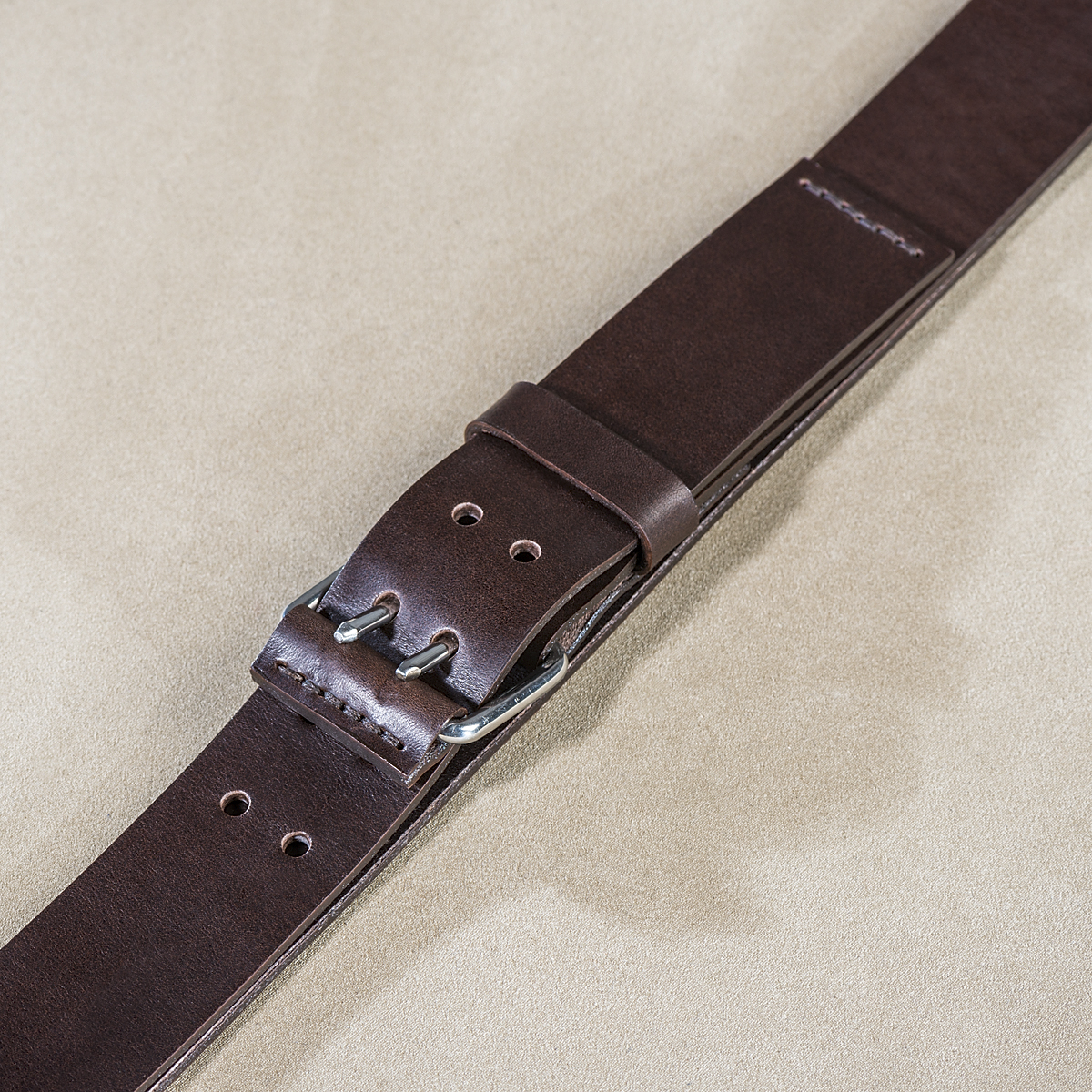 Leather belt for guys Brown 2.