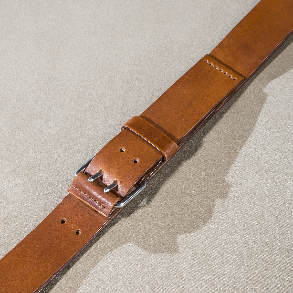 Leather belt for guys Caramel 2.