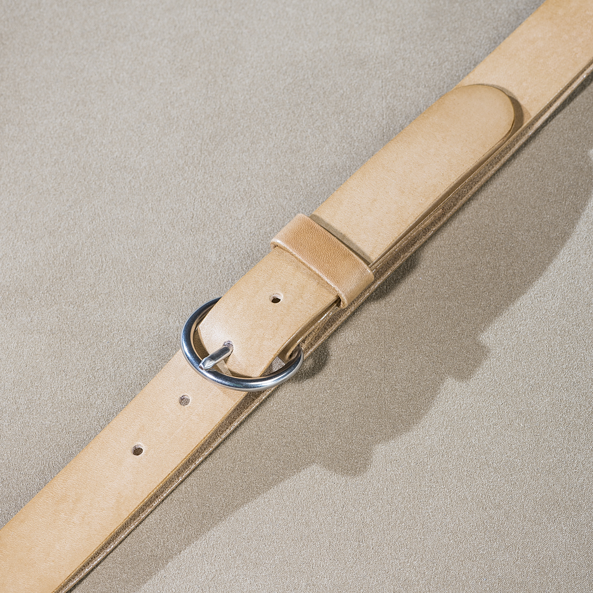 Leather belt for ladies Beige 2.