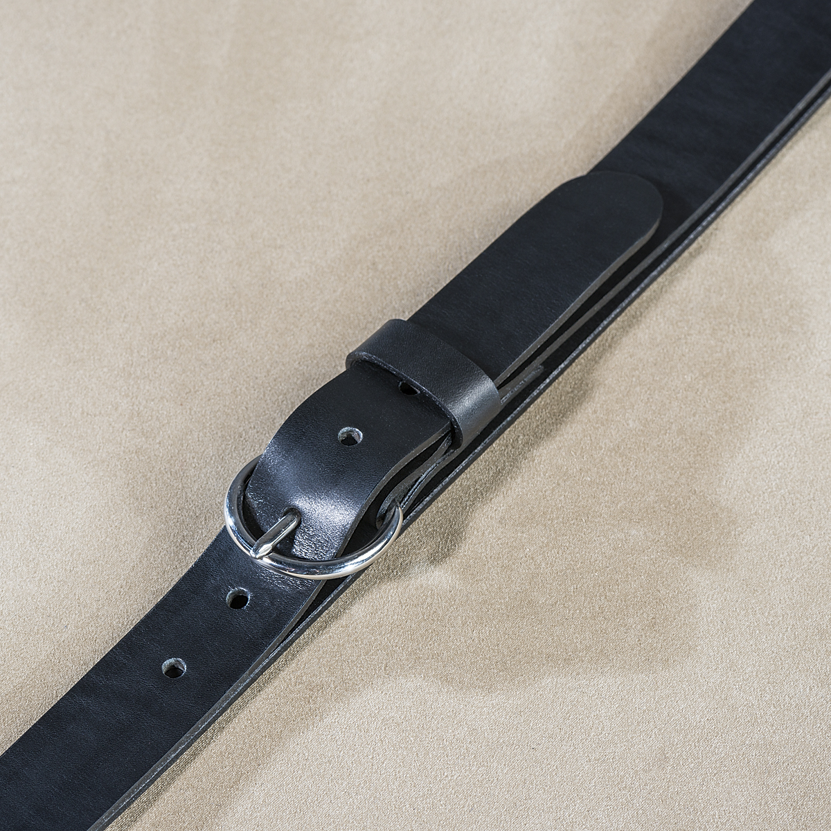 Leather belt for ladies Black 2.