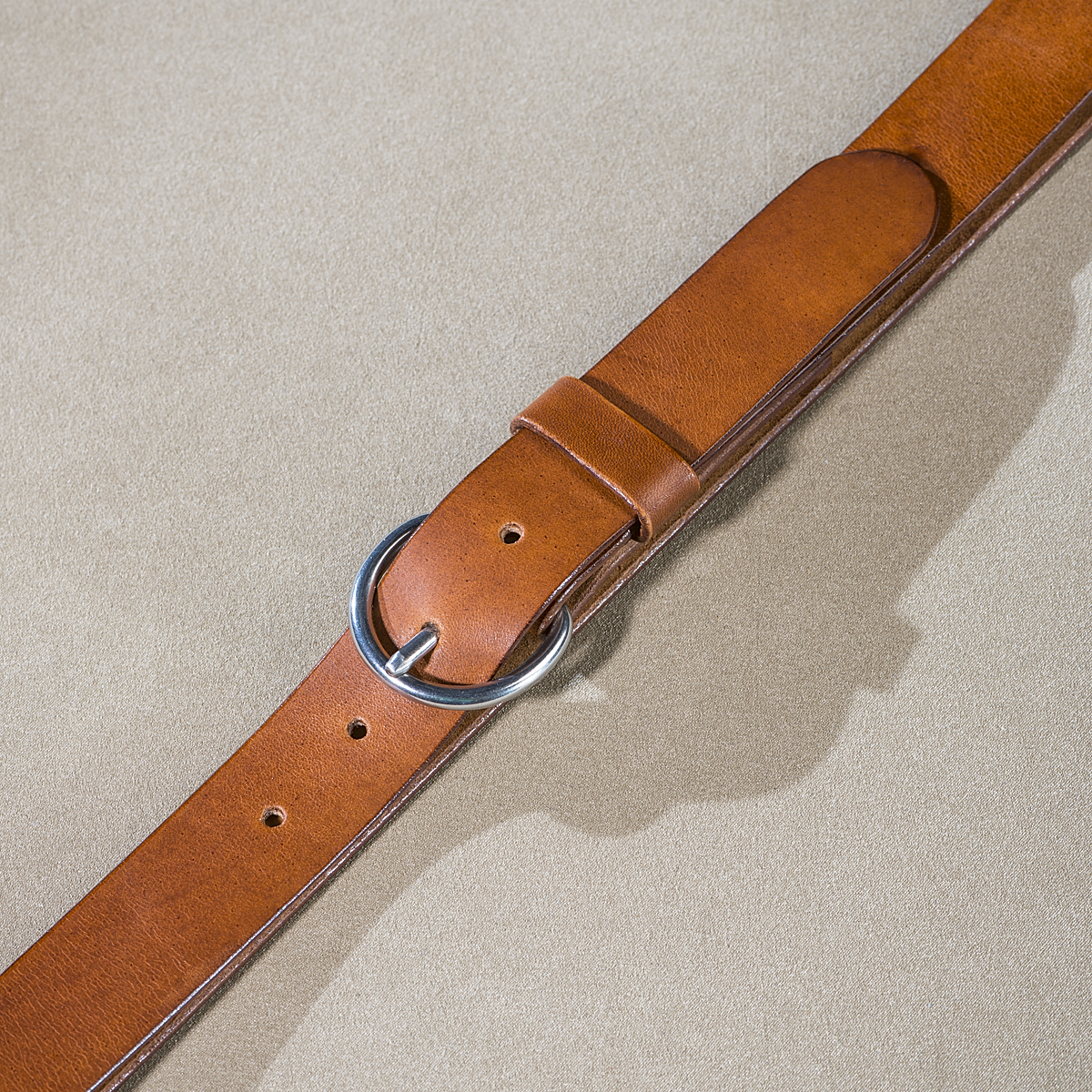 Leather belt for ladies Caramel 2.