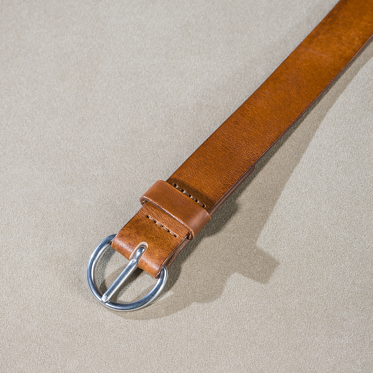 Leather belt for ladies Caramel 3.