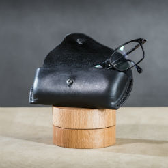 Leather spectacle cases Black 2 small.
