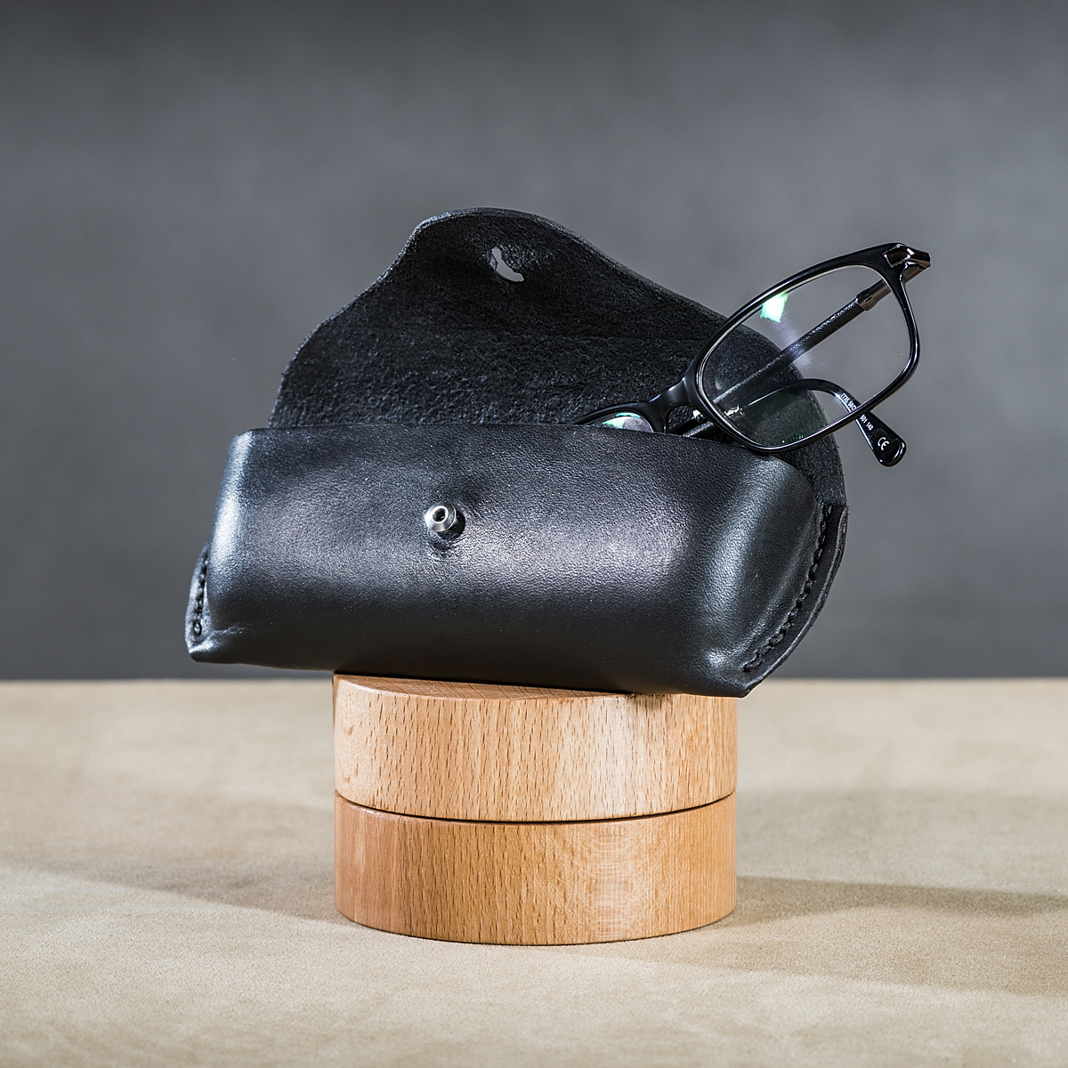 Leather spectacle cases Black 2.