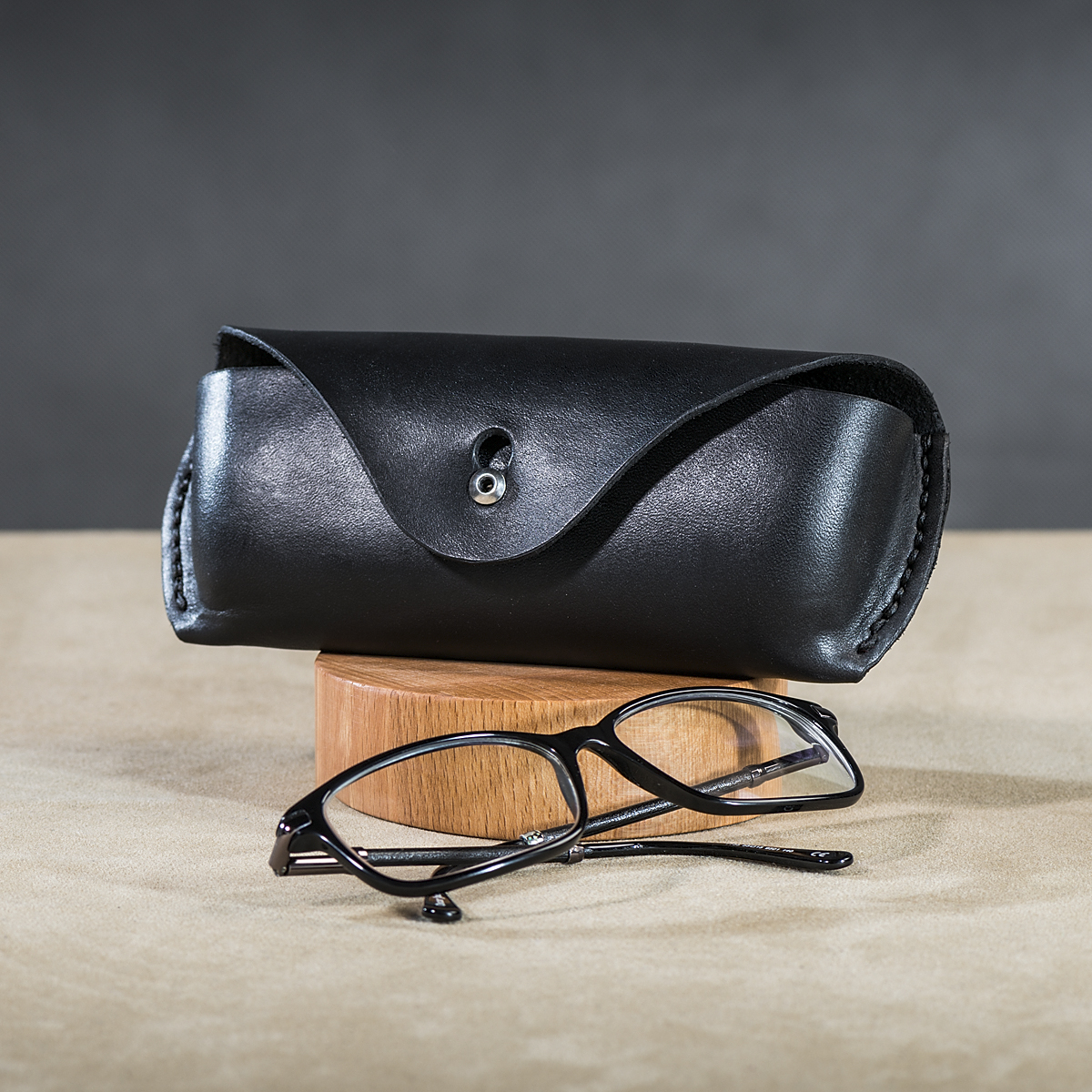 Leather spectacle cases Black 3.