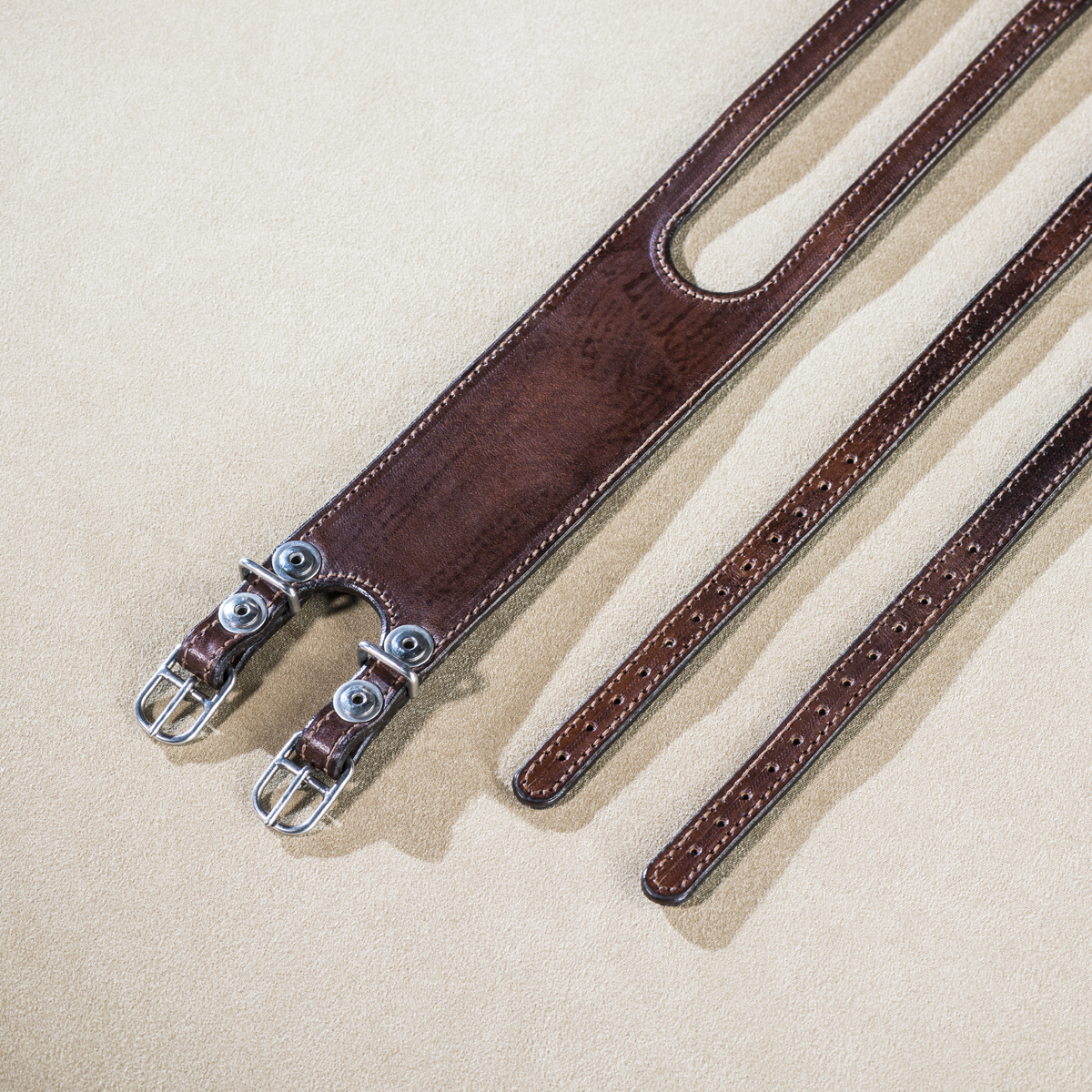 Leather straps for fixed gear Brown 4.